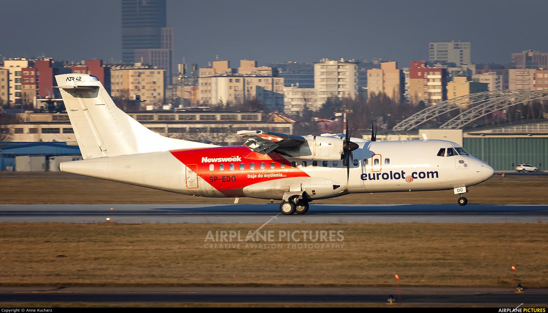 euroLOT SP-EDG aircraft at Warsaw - Frederic Chopin