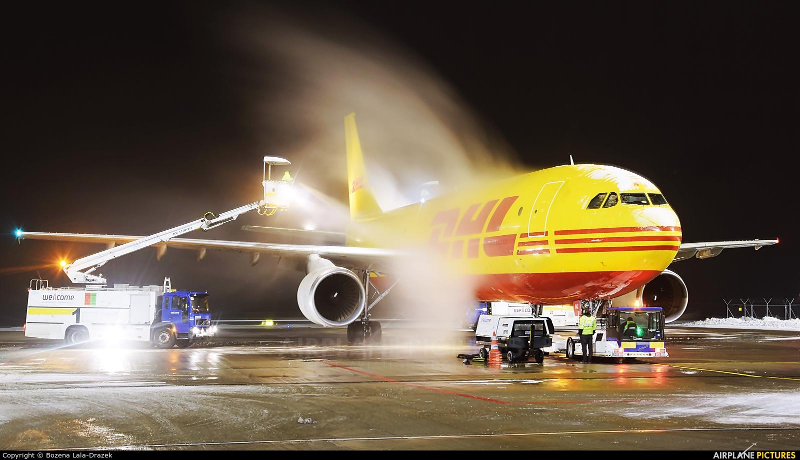 DHL Cargo D-AEAO aircraft at Katowice - Pyrzowice