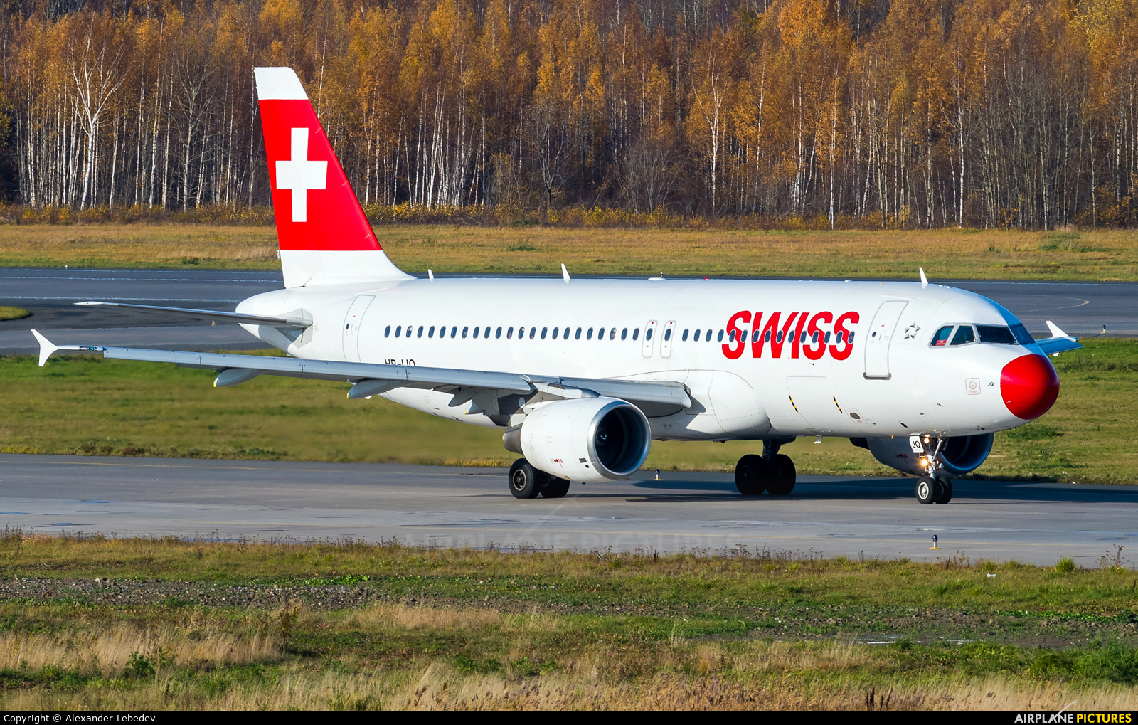Swiss HB-IJQ aircraft at St. Petersburg - Pulkovo