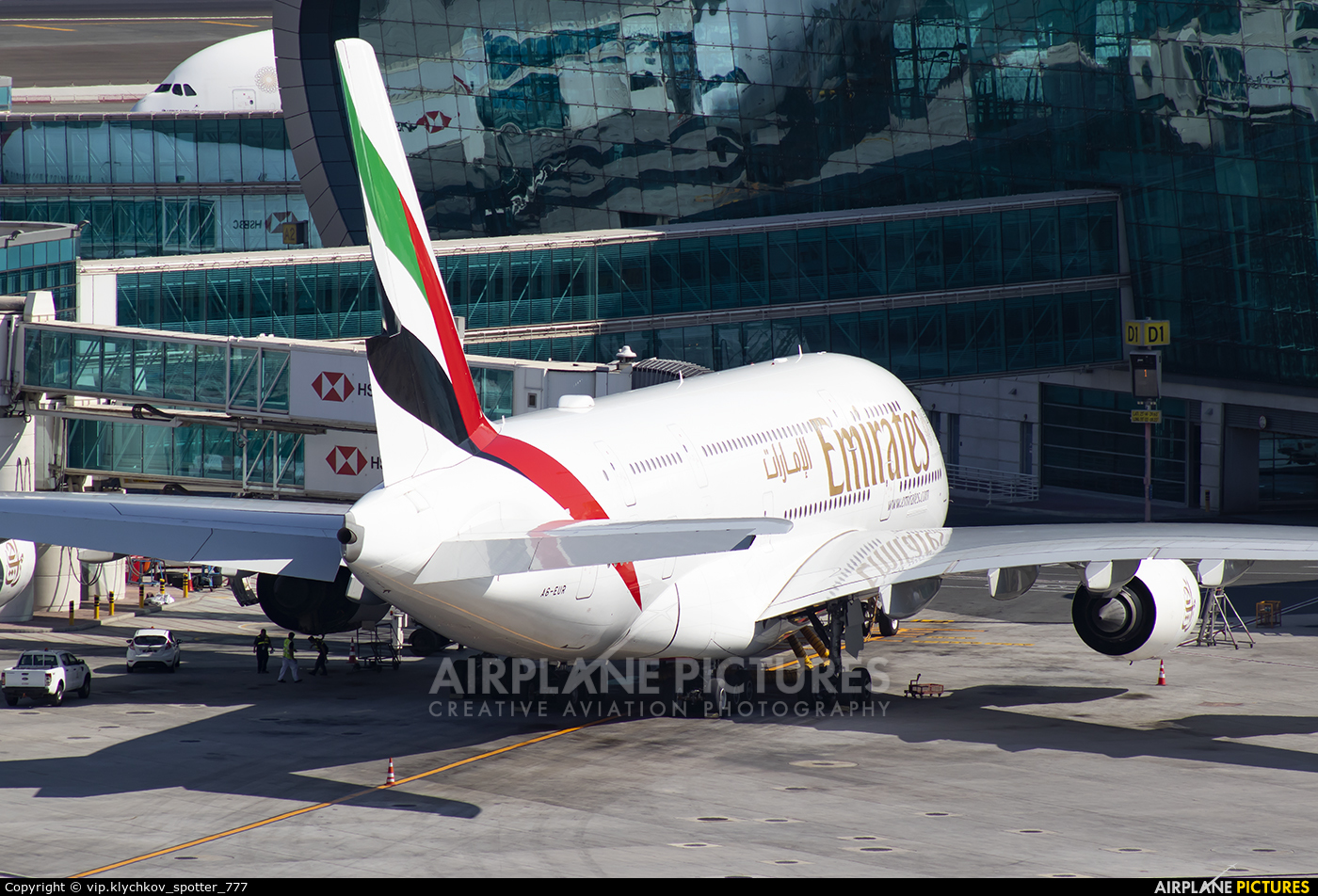 Emirates Airlines A6-EUR aircraft at Dubai Intl