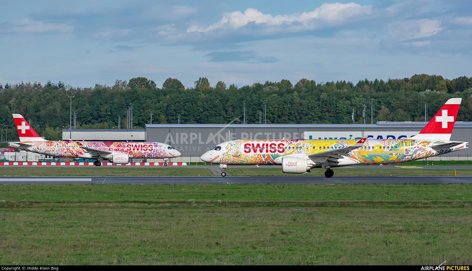 Swiss HB-JCA aircraft at Luxembourg - Findel
