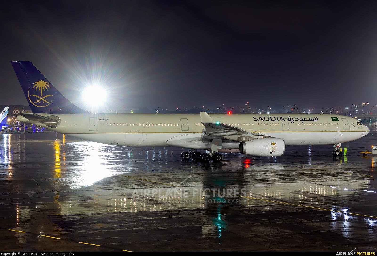 Saudi Arabian Airlines HZ-AQ16 aircraft at Mumbai - Chhatrapati Shivaji Intl