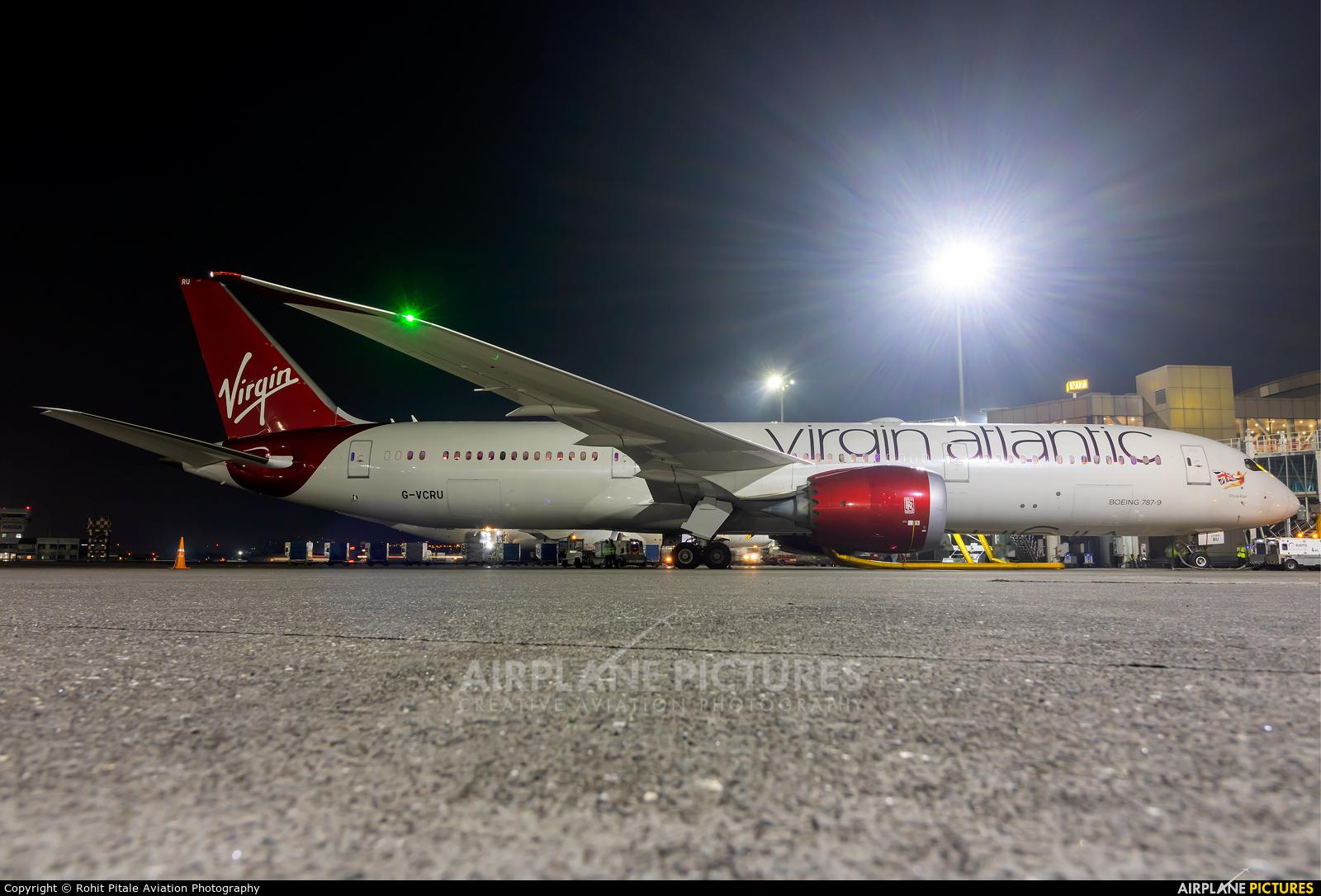 Virgin Atlantic G-VCRU aircraft at Mumbai - Chhatrapati Shivaji Intl