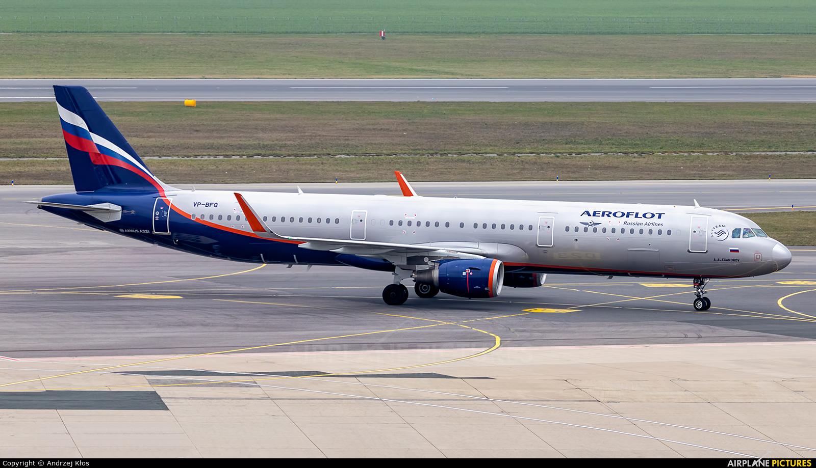 Aeroflot VP-BFQ aircraft at Vienna - Schwechat