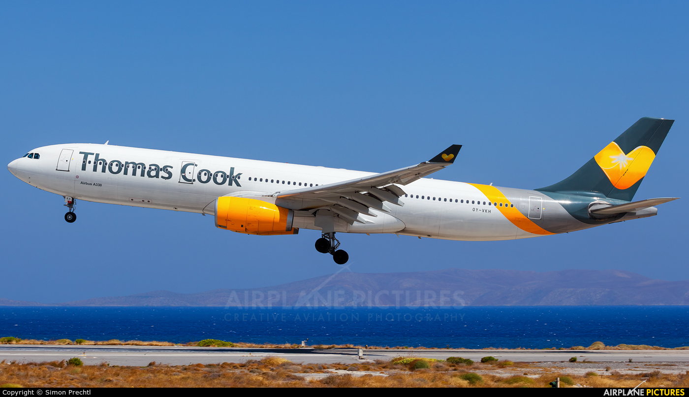 Thomas Cook Scandinavia OY-VKH aircraft at Heraklion - Nikos Kazantzakis