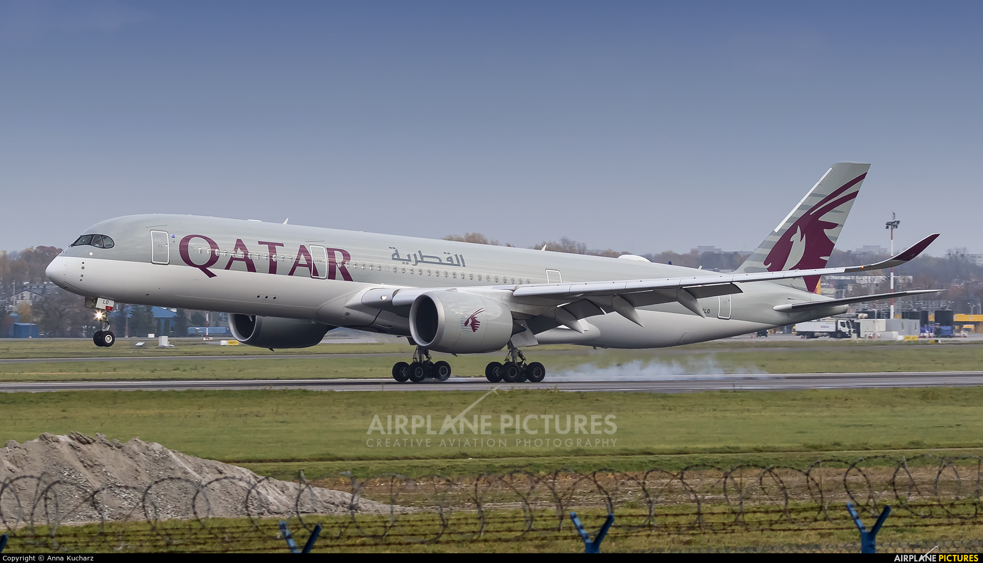 Qatar Airways A7-ALO aircraft at Warsaw - Frederic Chopin