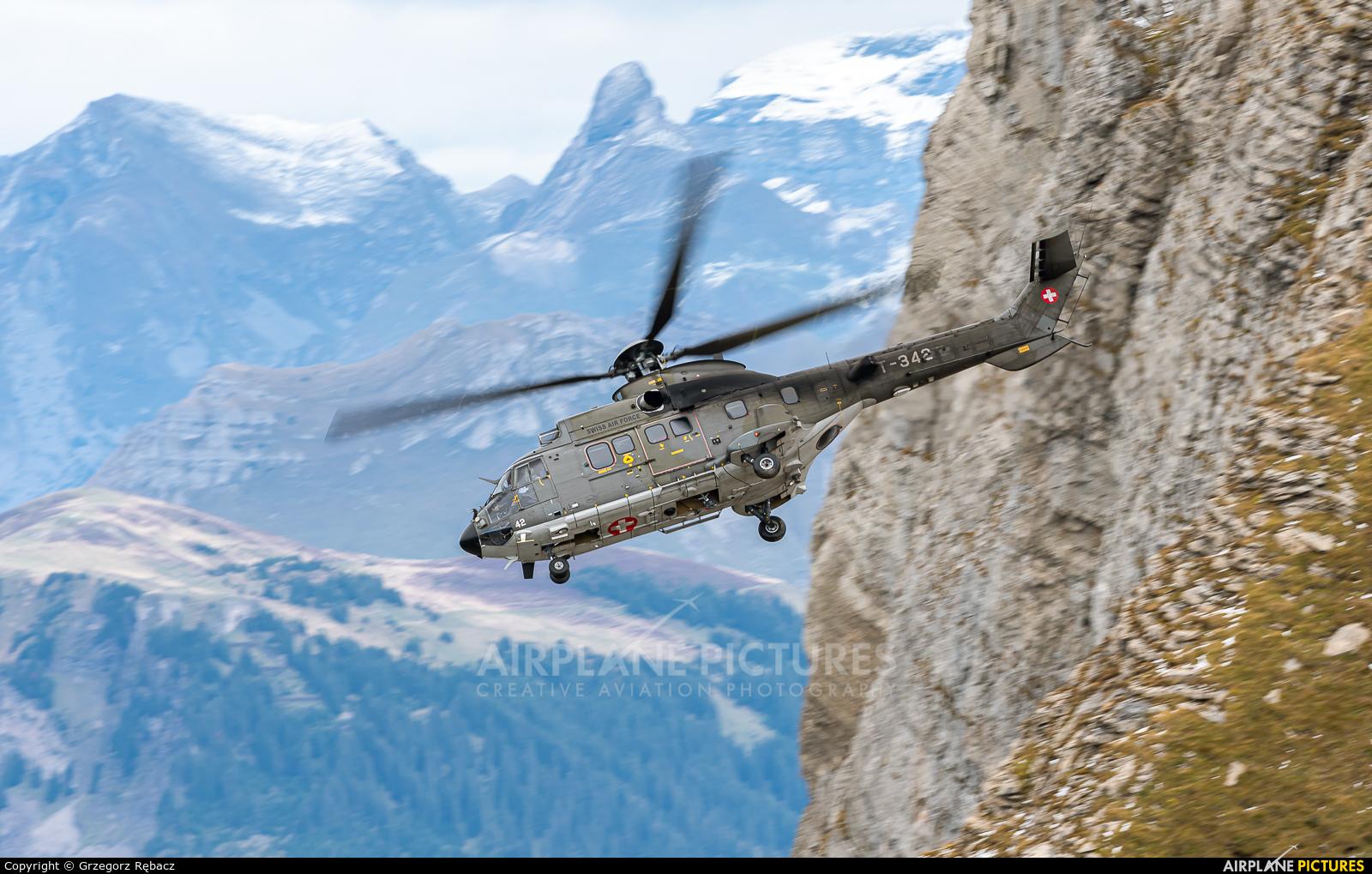 Switzerland - Air Force T-342 aircraft at Axalp - Ebenfluh Range