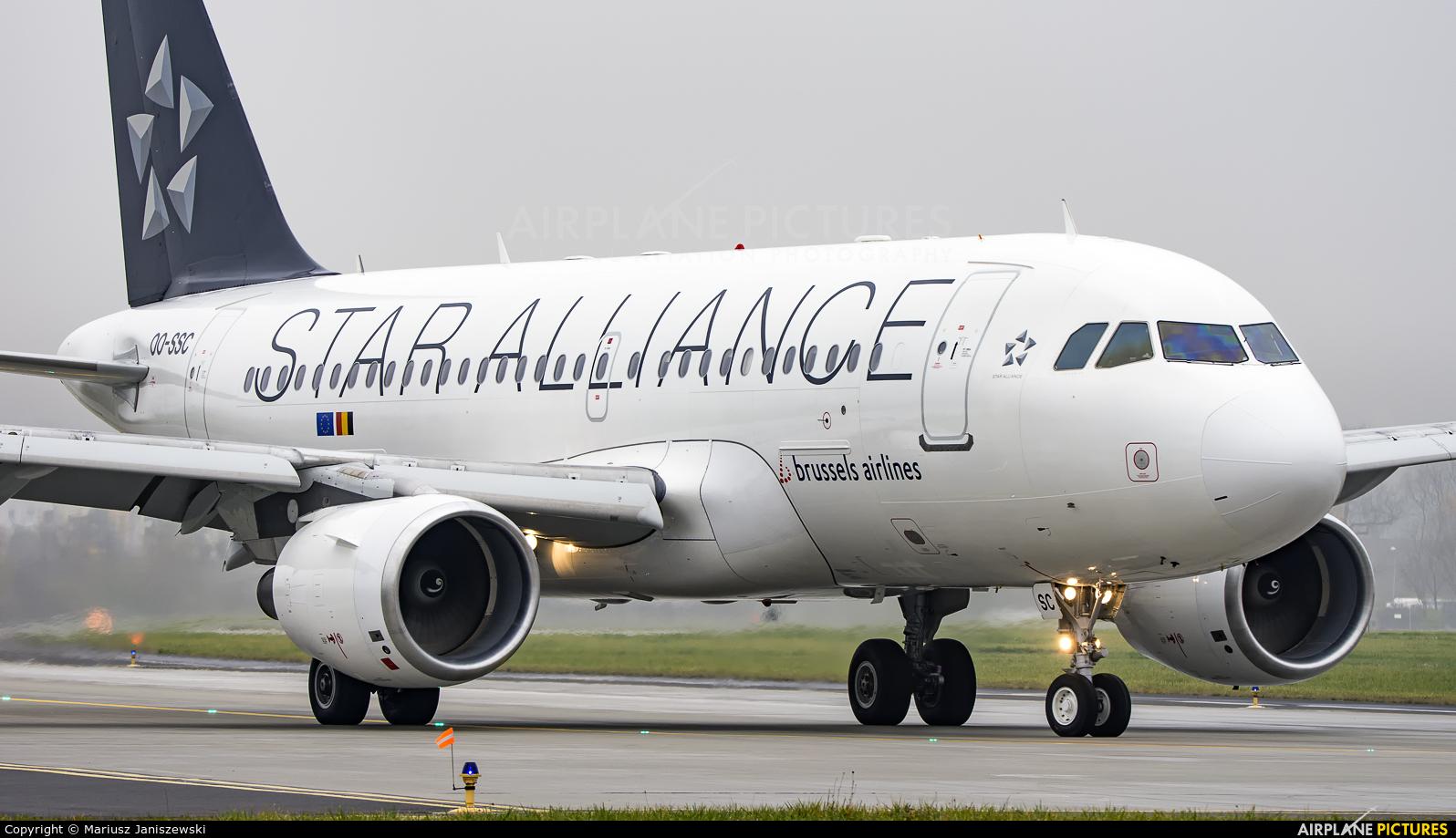 Brussels Airlines OO-SSC aircraft at Kraków - John Paul II Intl