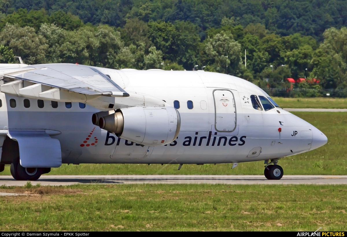 Brussels Airlines OO-DJP aircraft at Kraków - John Paul II Intl