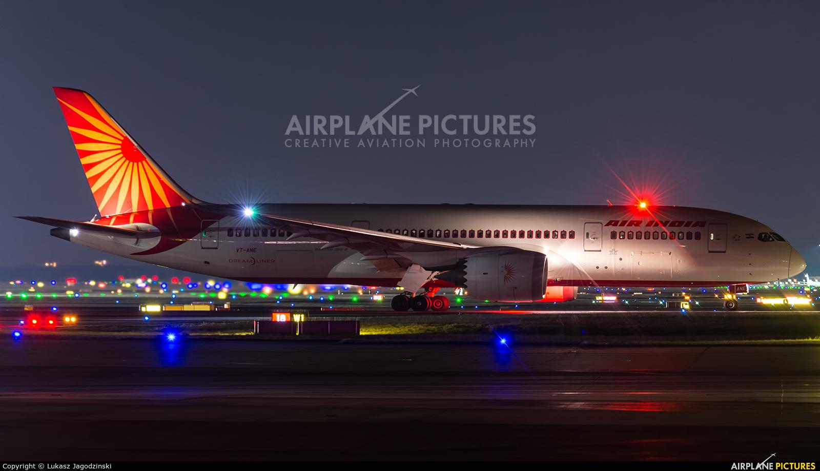 Air India VT-ANE aircraft at Frankfurt