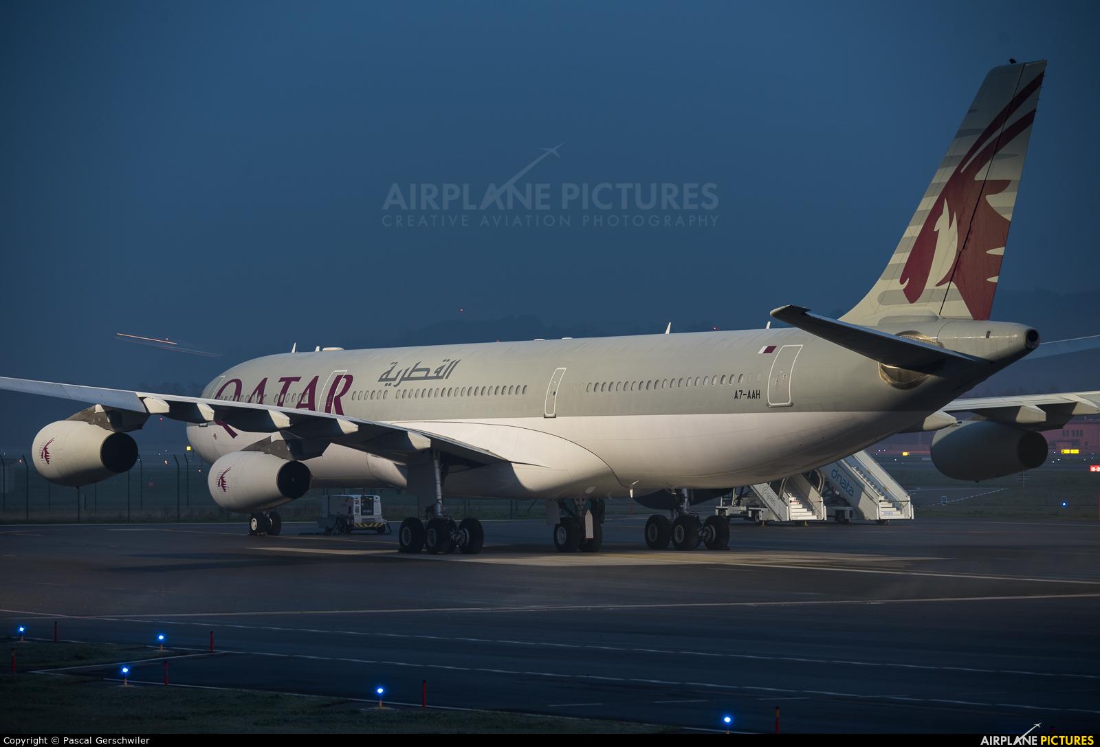 Qatar Amiri Flight A7-AAH aircraft at Zurich