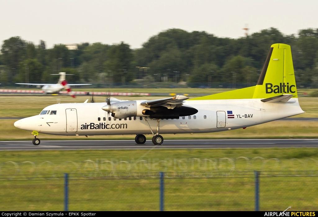 Air Baltic YL-BAV aircraft at Warsaw - Frederic Chopin