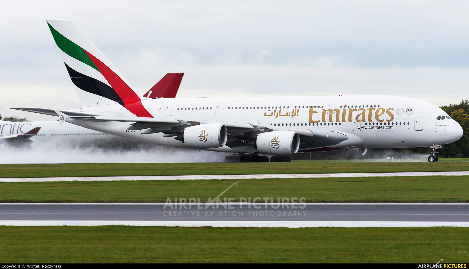 Emirates Airlines A6-EUQ aircraft at Manchester