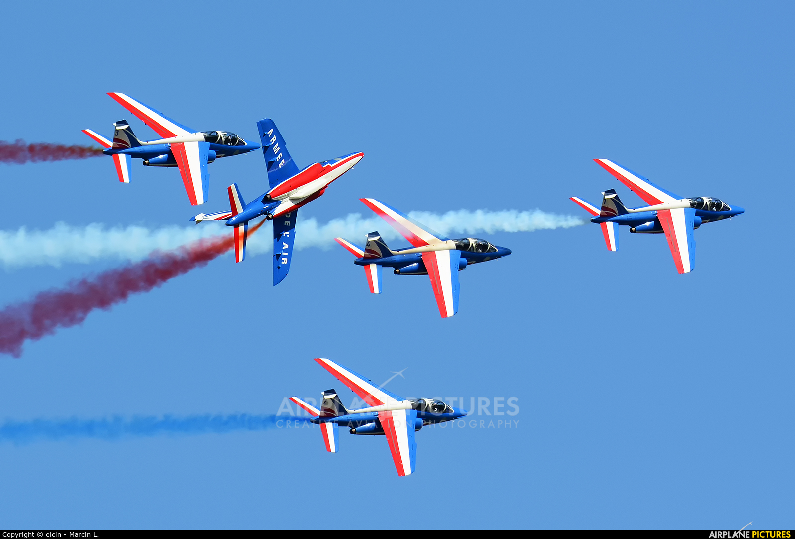 "France - Air Force ""Patrouille de France"" E113 aircraft at Ostrava Mošnov"
