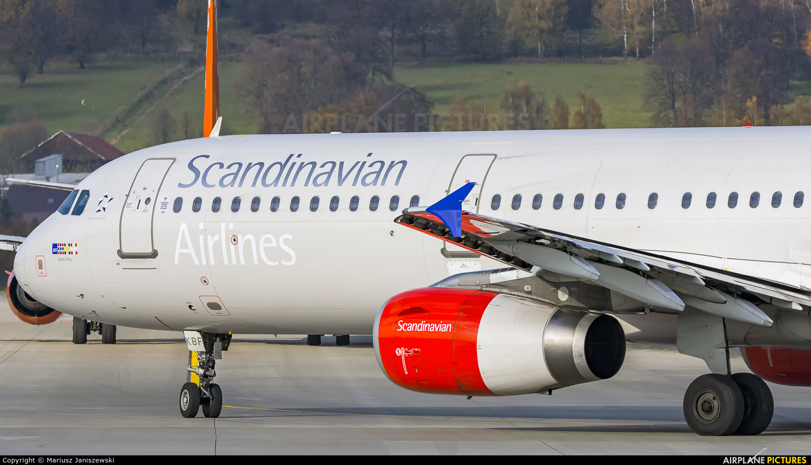 SAS - Scandinavian Airlines OY-KBF aircraft at Kraków - John Paul II Intl