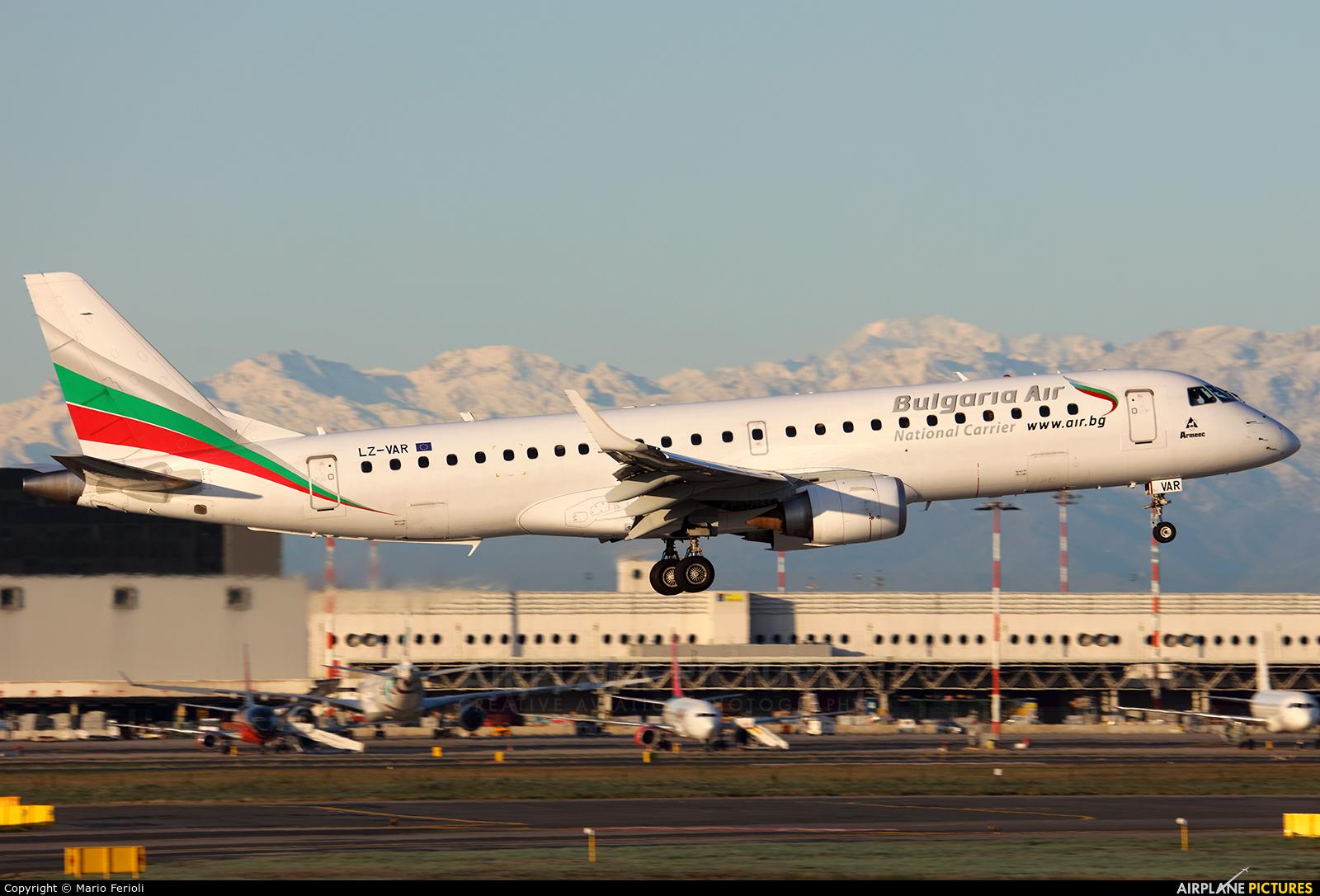Bulgaria Air LZ-VAR aircraft at Milan - Malpensa
