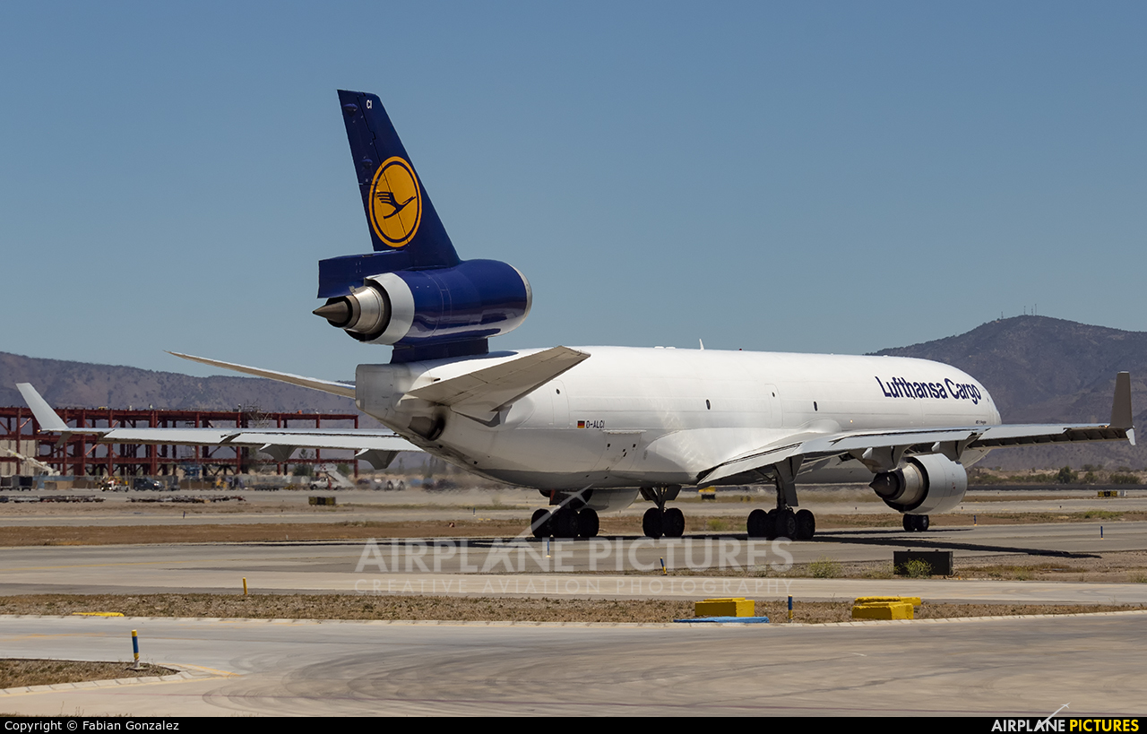 Lufthansa Cargo D-ALCI aircraft at Santiago de Chile - Arturo Merino Benítez Intl