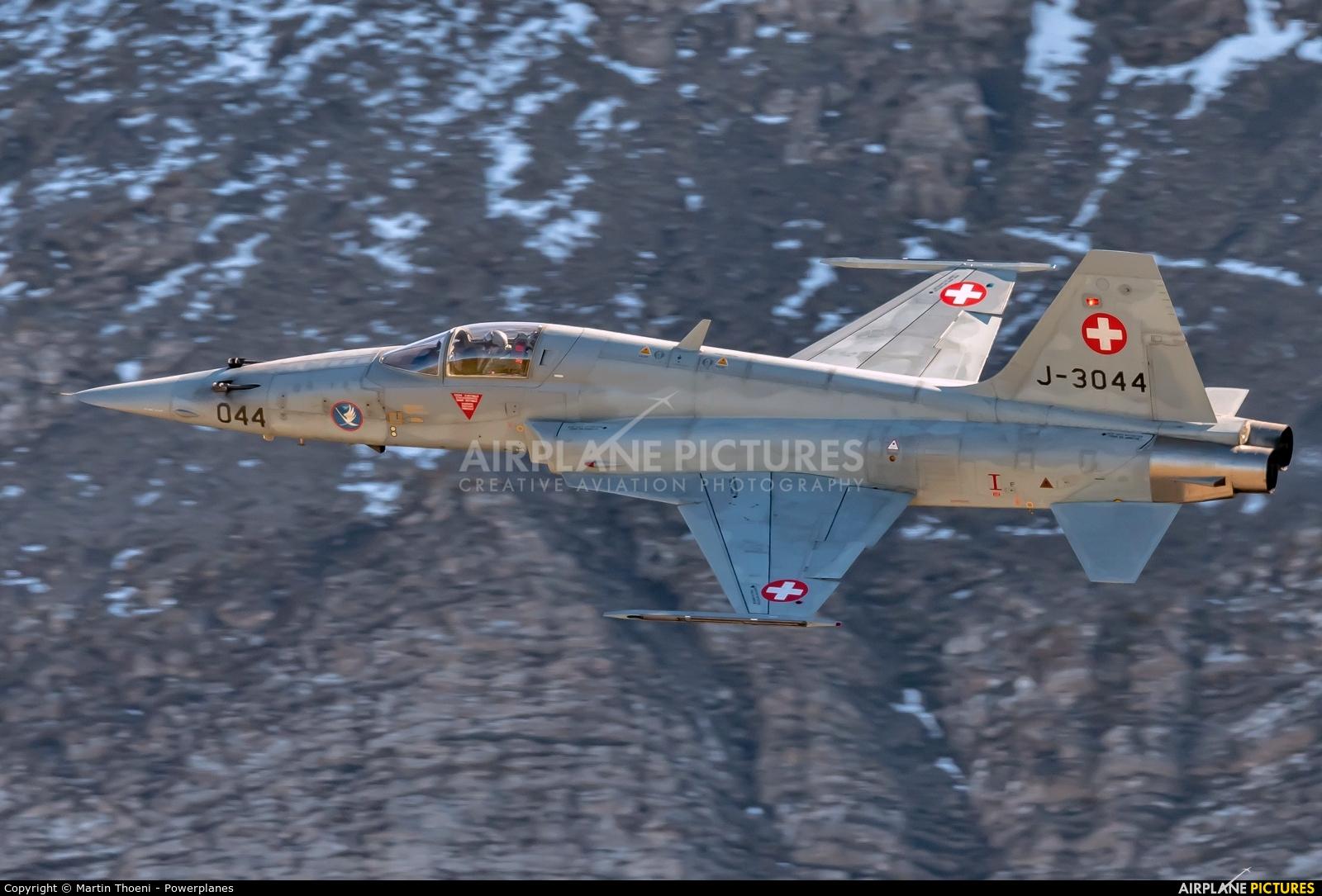 Switzerland - Air Force J-3044 aircraft at Axalp - Ebenfluh Range