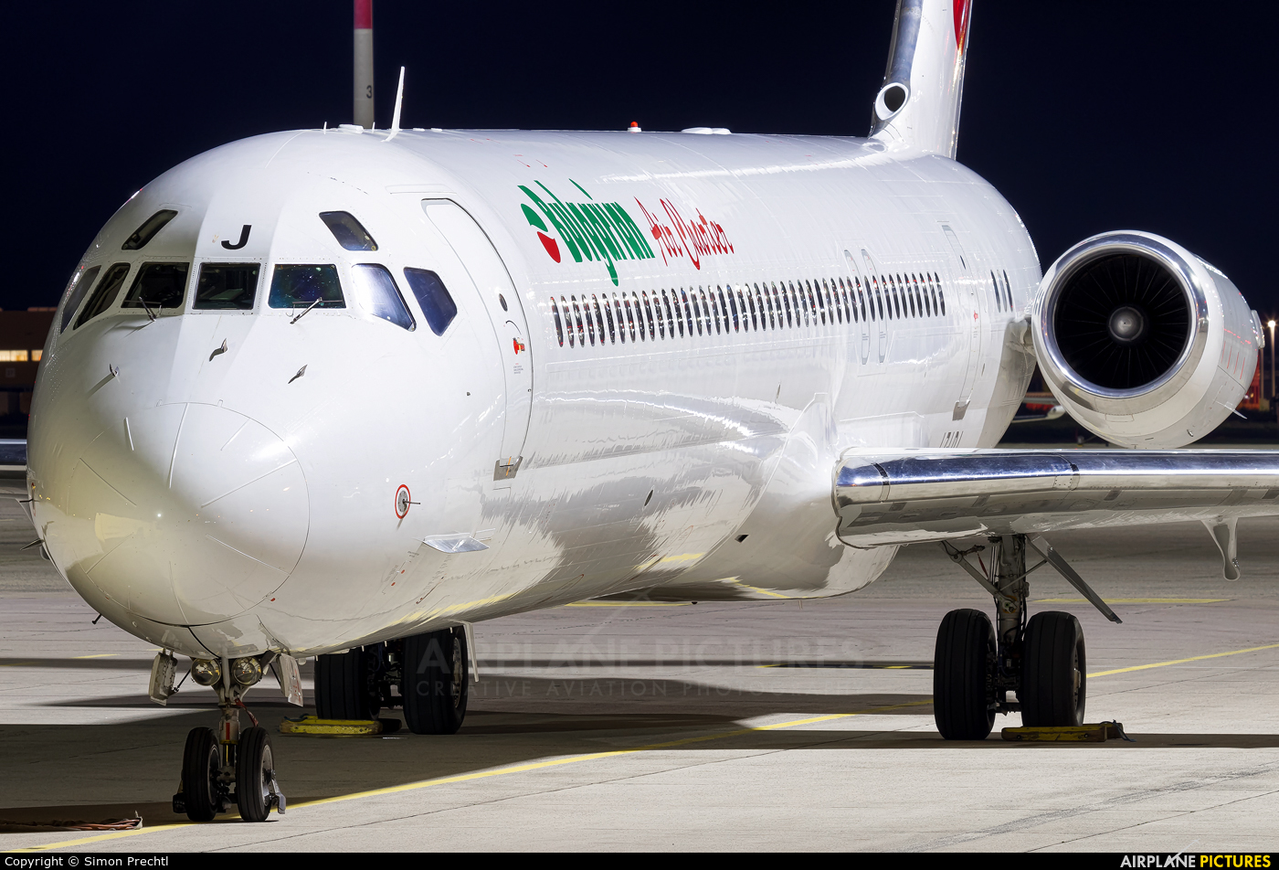 Bulgarian Air Charter LZ-LDJ aircraft at Linz