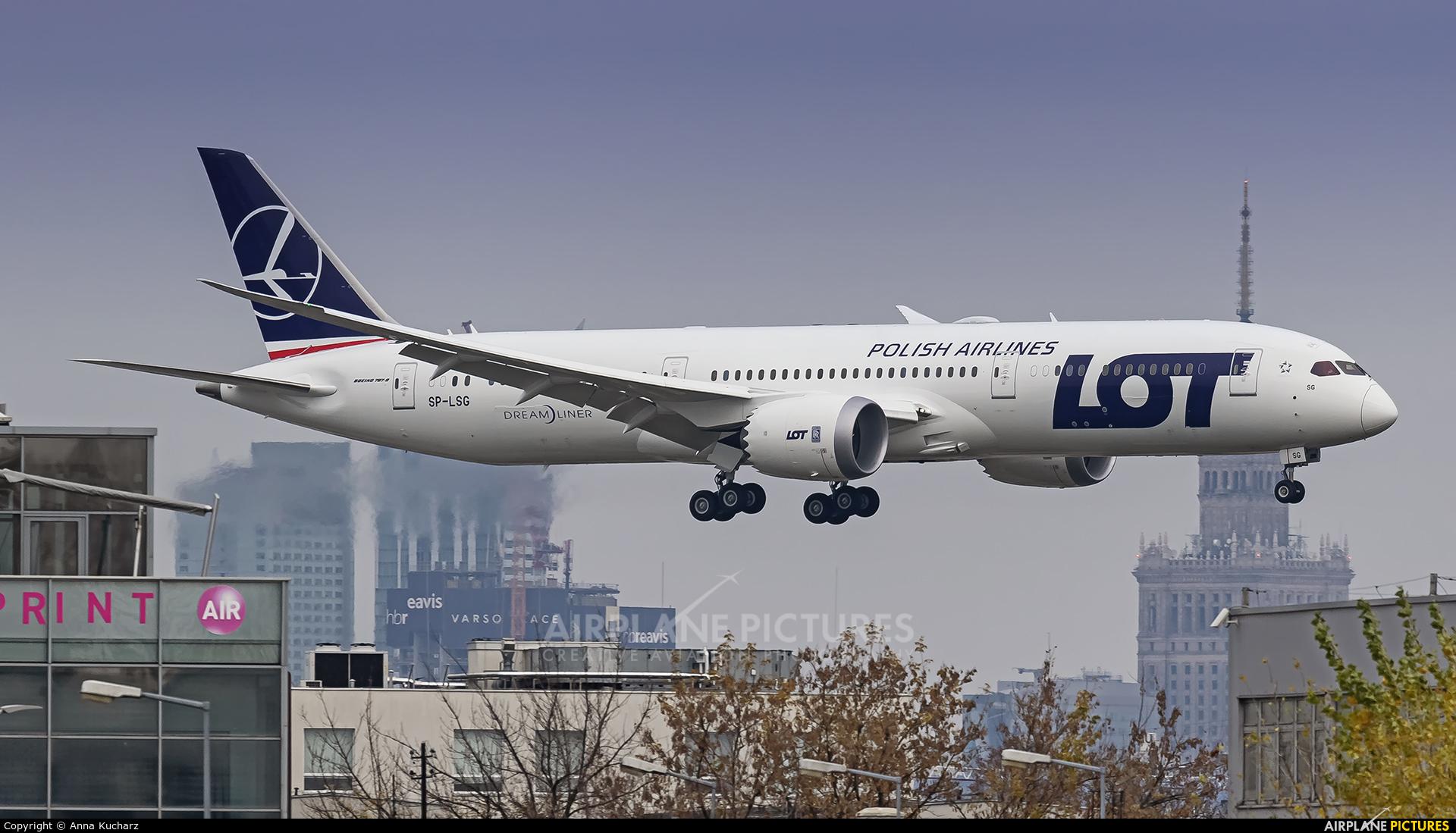 LOT - Polish Airlines SP-LSG aircraft at Warsaw - Frederic Chopin
