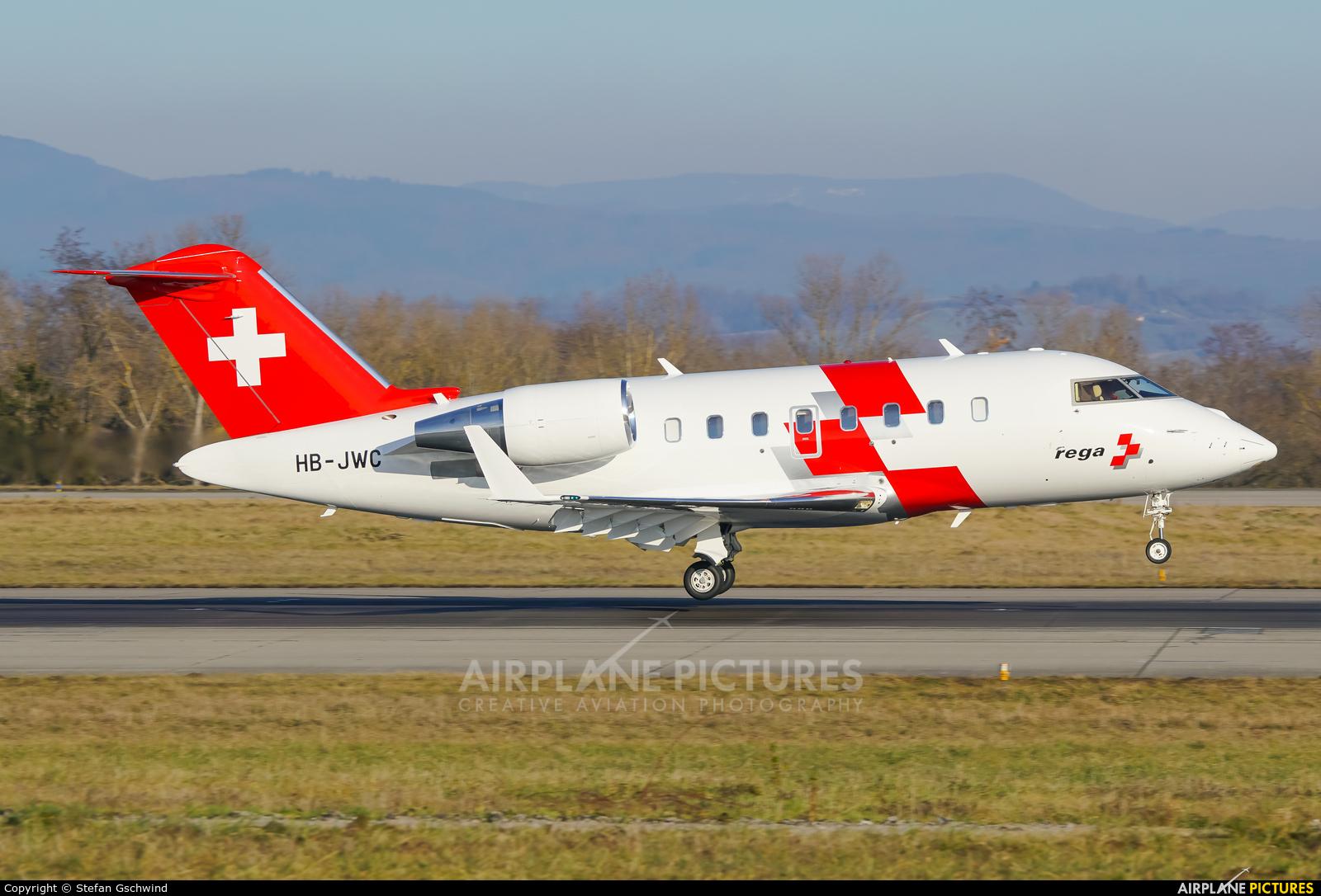 REGA Swiss Air Ambulance  HB-JWC aircraft at Basel - Mulhouse- Euro
