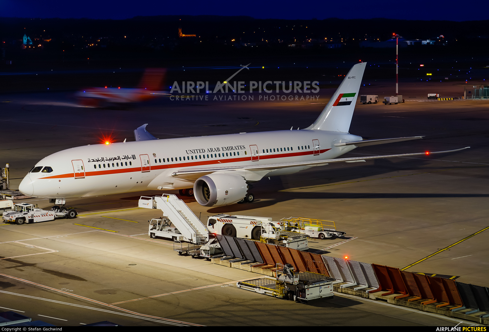 United Arab Emirates - Government A6-PFC aircraft at Basel - Mulhouse- Euro