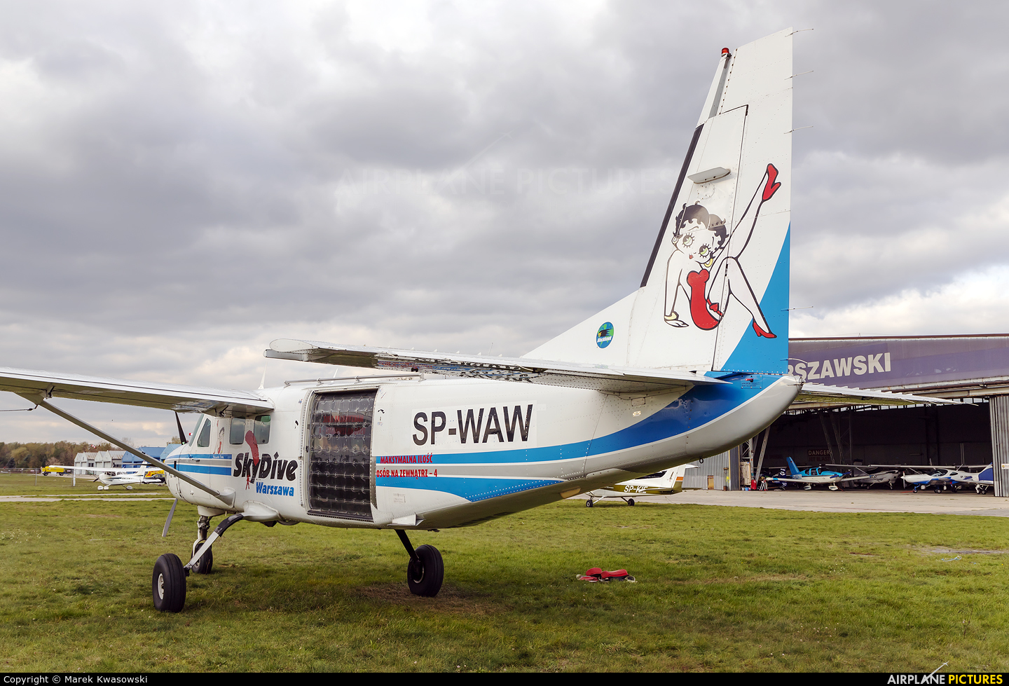 Private SP-WAW aircraft at Warsaw - Babice