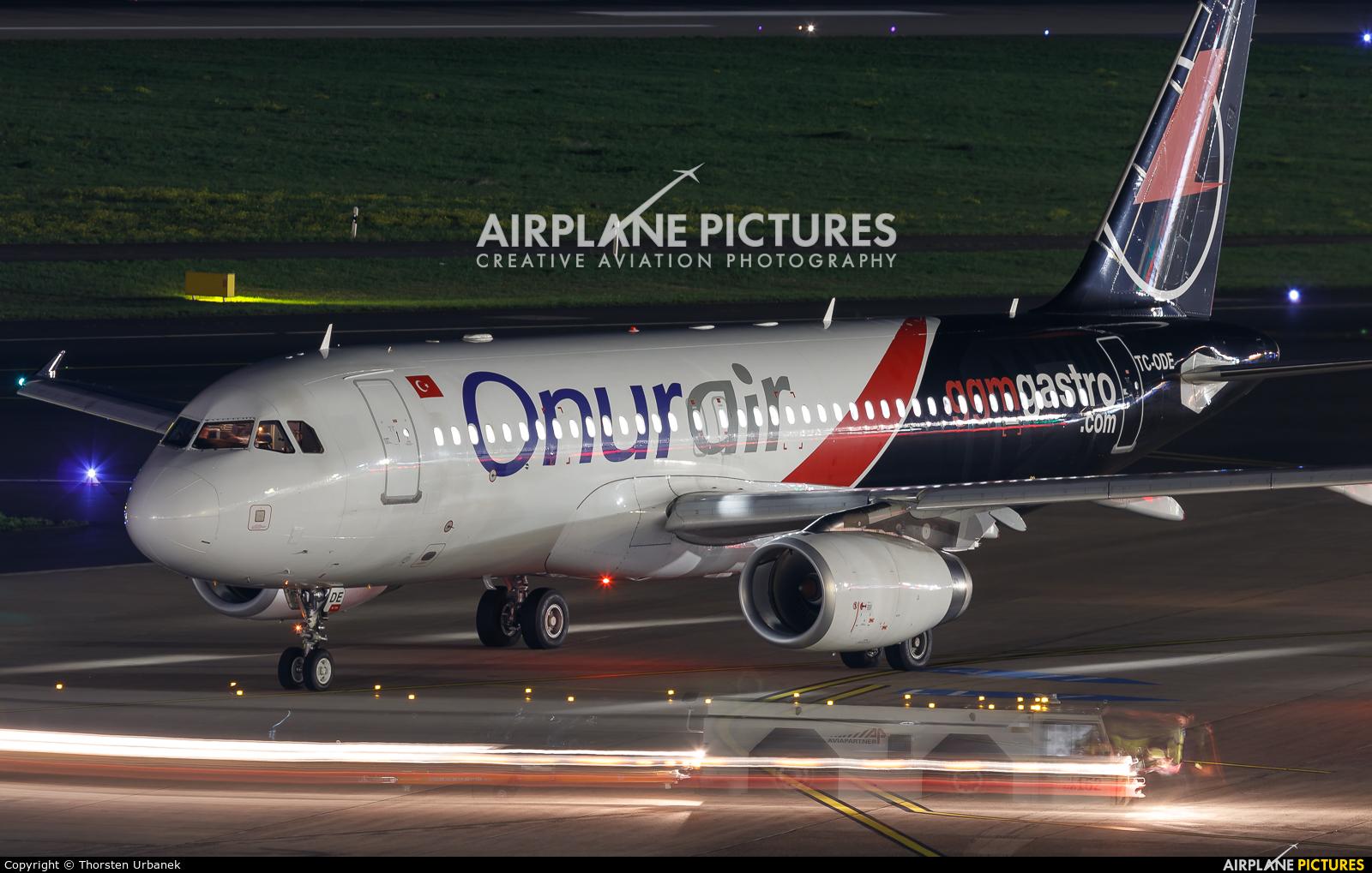 Onur Air TC-ODE aircraft at Düsseldorf
