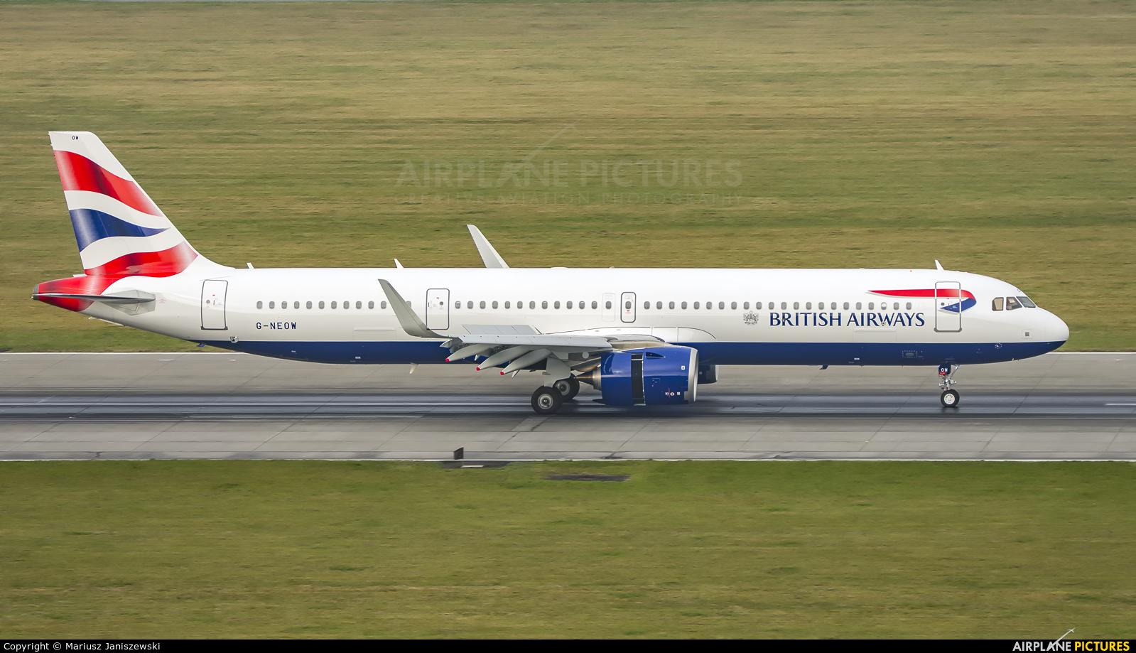 British Airways G-NEOW aircraft at Kraków - John Paul II Intl