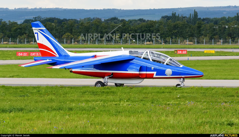 "France - Air Force ""Patrouille de France"" E152 aircraft at Ostrava Mošnov"