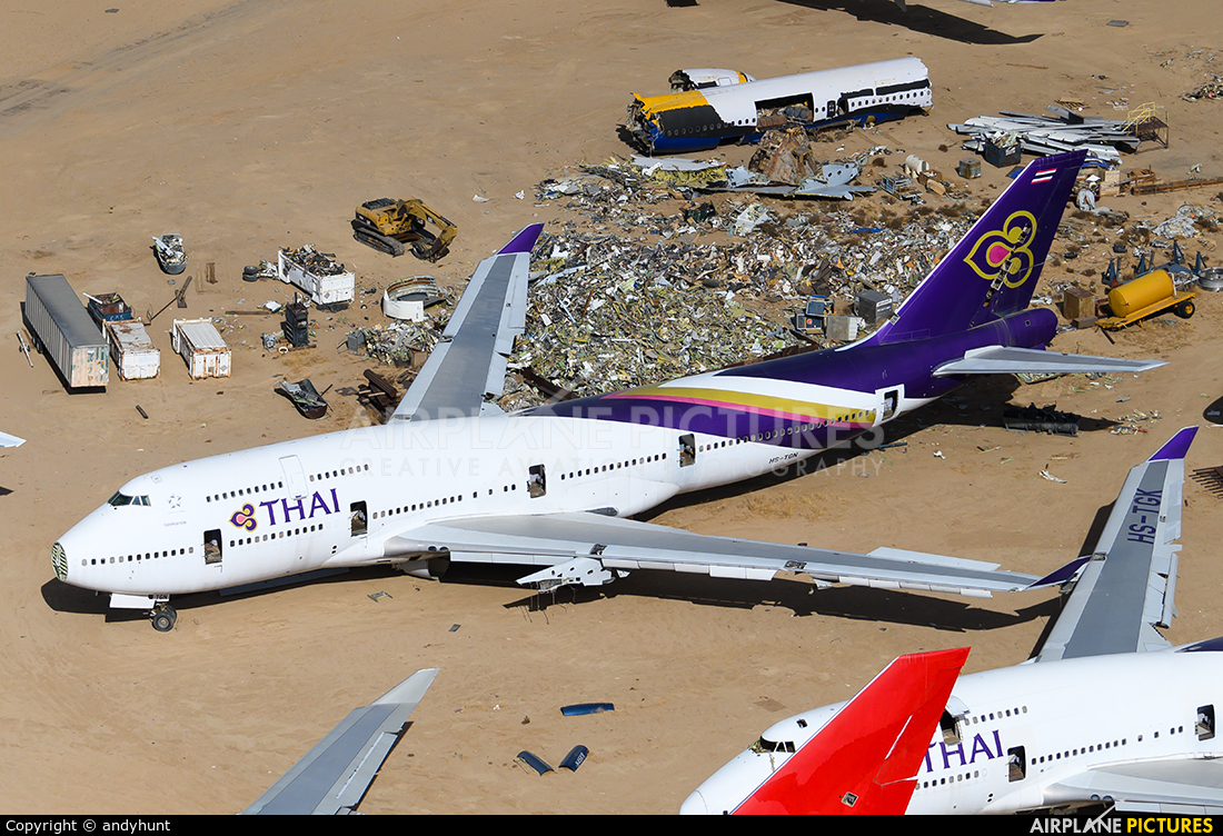 Thai Airways HS-TGN aircraft at Mojave