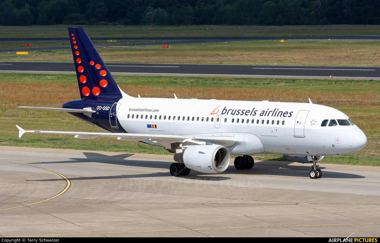 Brussels Airlines OO-SSD aircraft at Berlin - Tegel