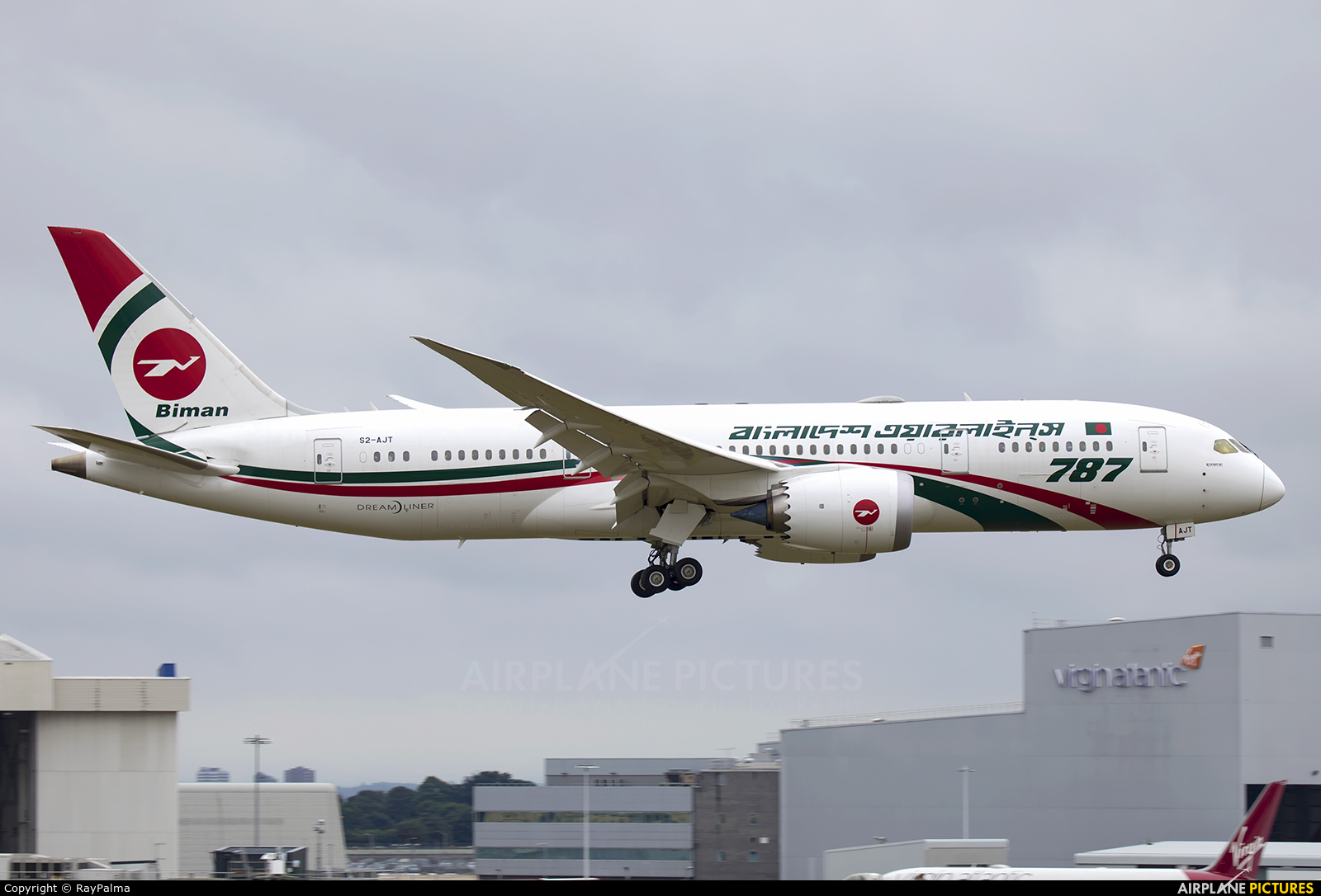 Biman Bangladesh S2-AJT aircraft at London - Heathrow