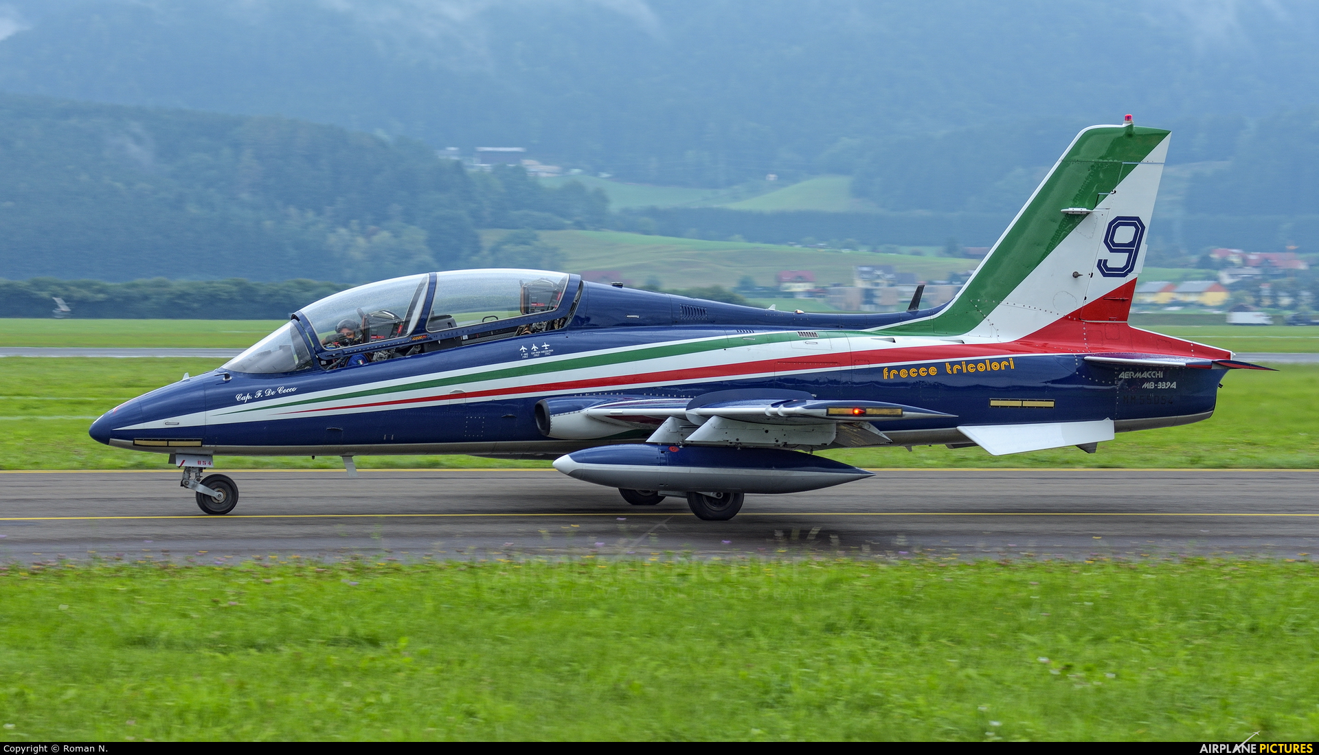 """Italy - Air Force """"Frecce Tricolori"""" MM55054 aircraft at Zeltweg"""