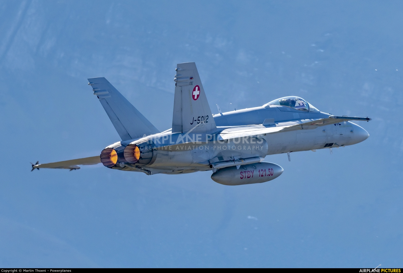 Switzerland - Air Force J-5012 aircraft at Axalp - Ebenfluh Range