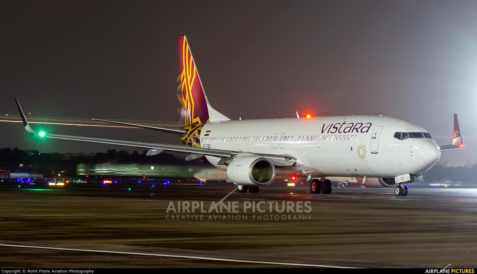 Vistara VT-TGD aircraft at Mumbai - Chhatrapati Shivaji Intl