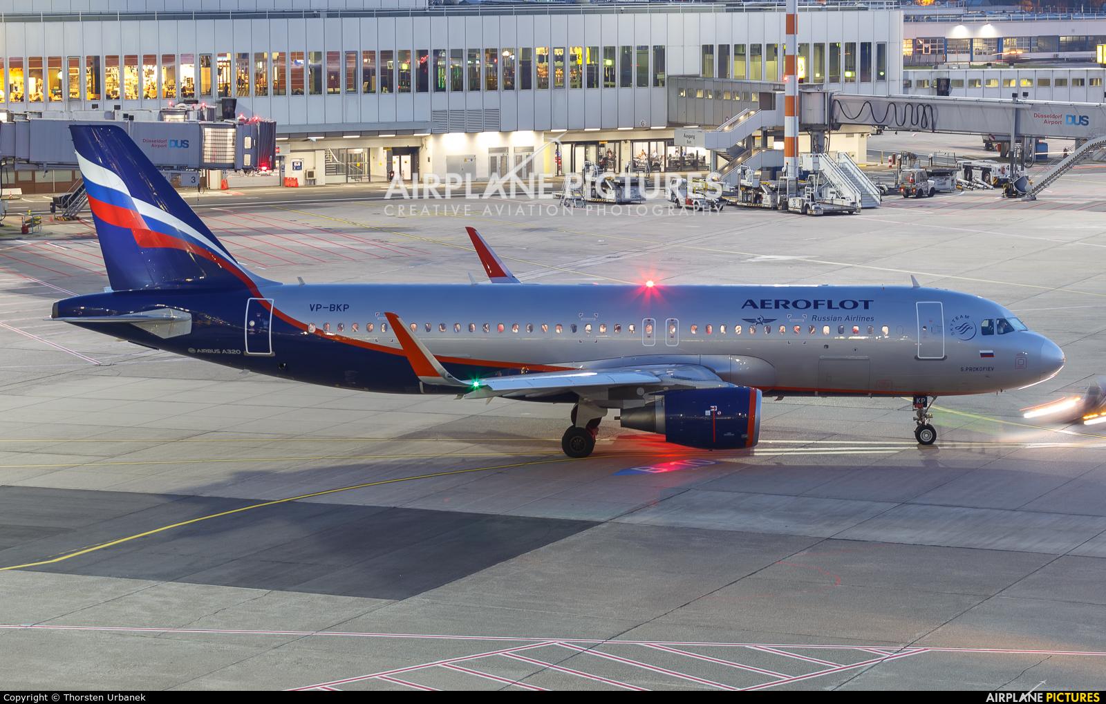 Aeroflot VP-BKP aircraft at Düsseldorf
