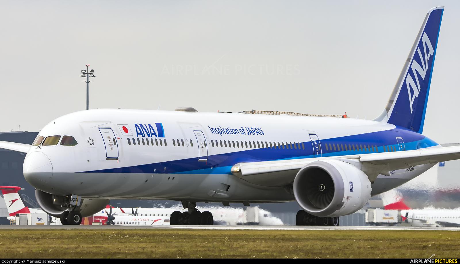 ANA - All Nippon Airways JA836A aircraft at Vienna - Schwechat