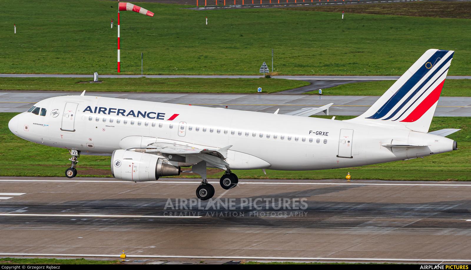 Air France F-GRXE aircraft at Zurich