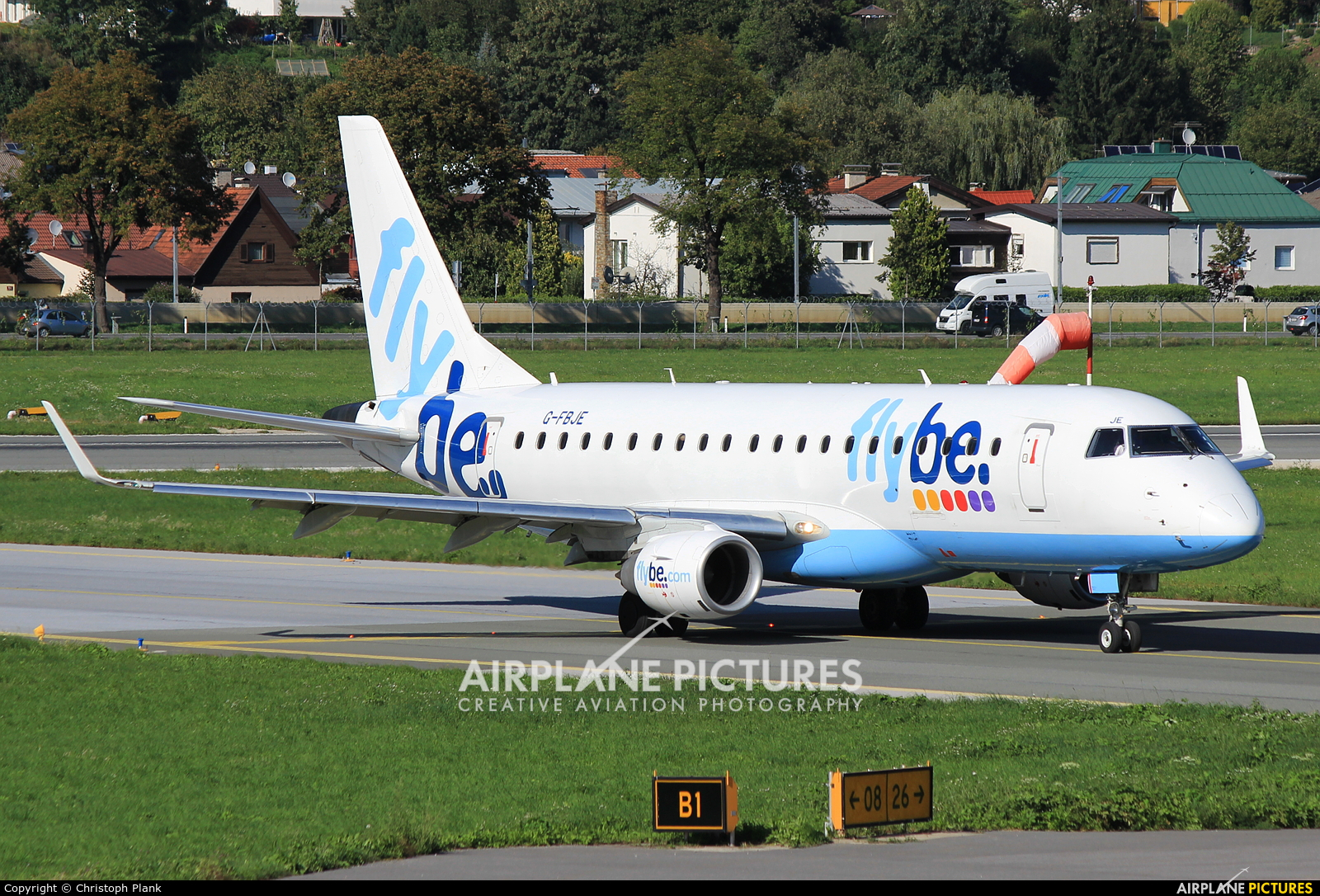 Flybe G-FBJE aircraft at Innsbruck