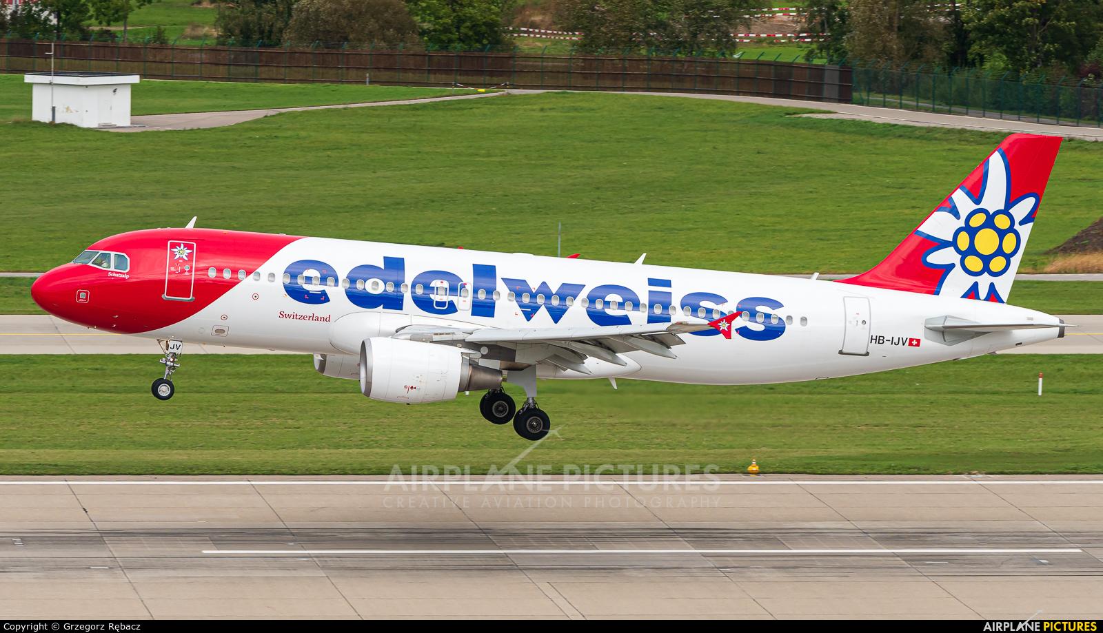 Edelweiss HB-IJV aircraft at Zurich
