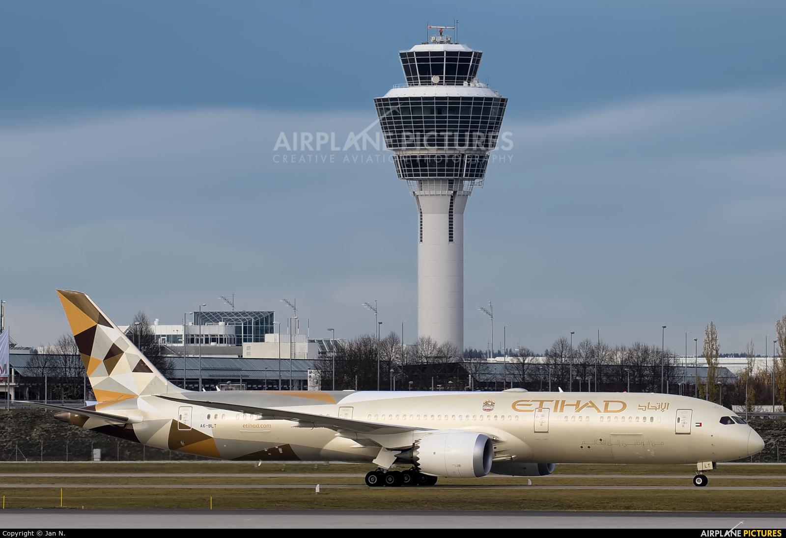 Etihad Airways A6-BLT aircraft at Munich