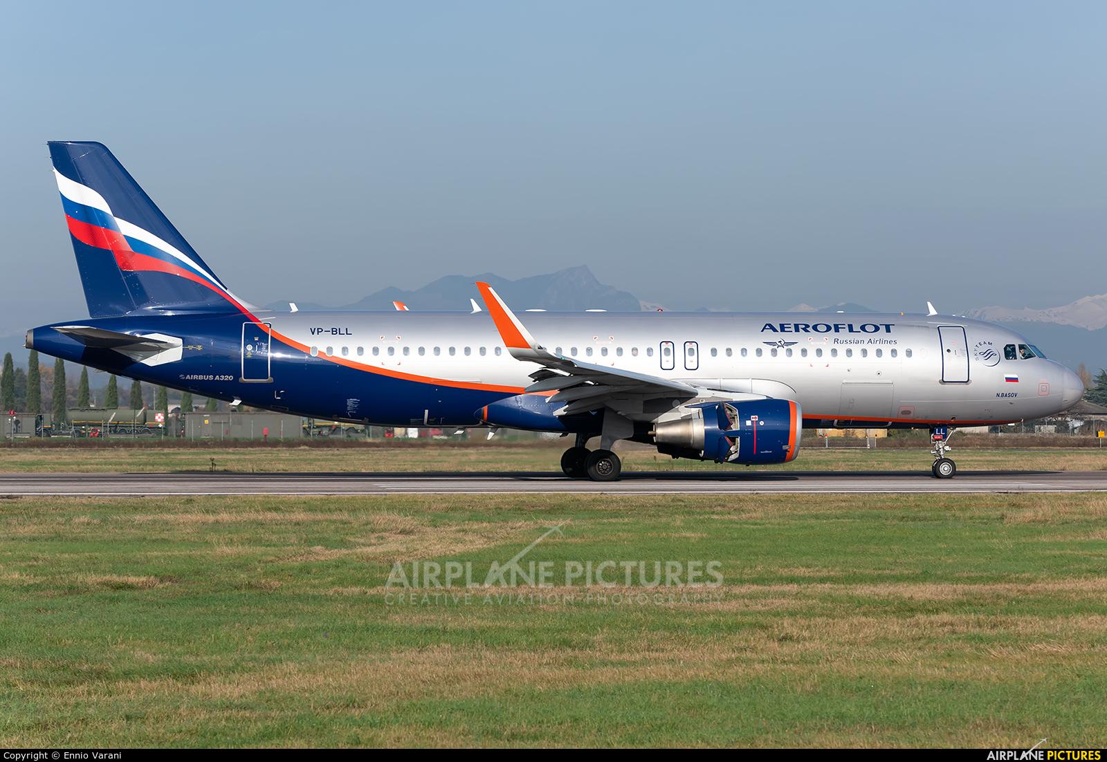 Aeroflot VP-BLL aircraft at Verona - Villafranca