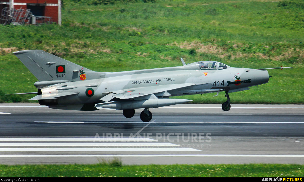 Bangladesh - Air Force 1414 aircraft at Dhaka - Hazrat Shahjala Intl