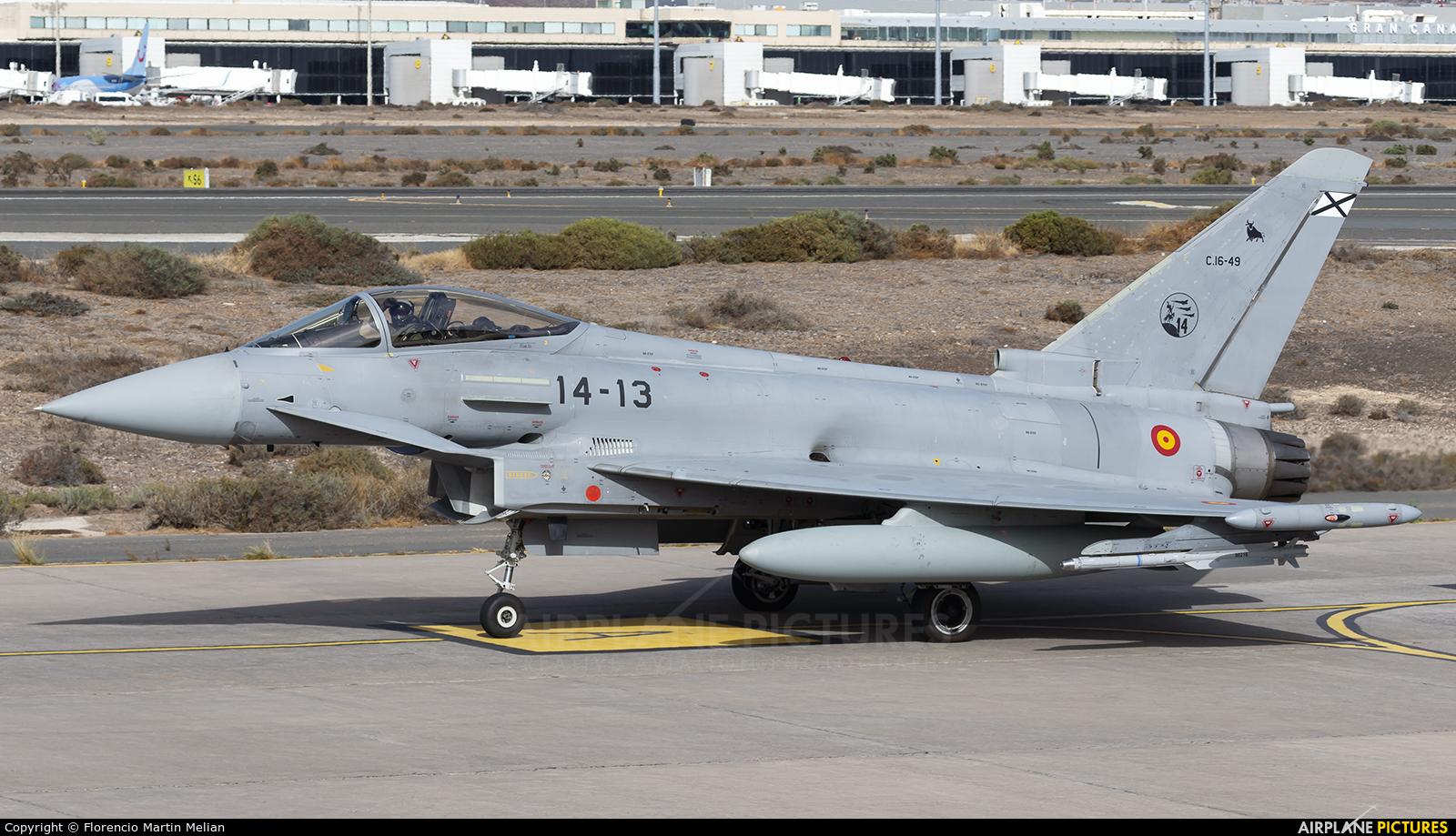 Spain - Air Force C.16-49 aircraft at Aeropuerto de Gran Canaria