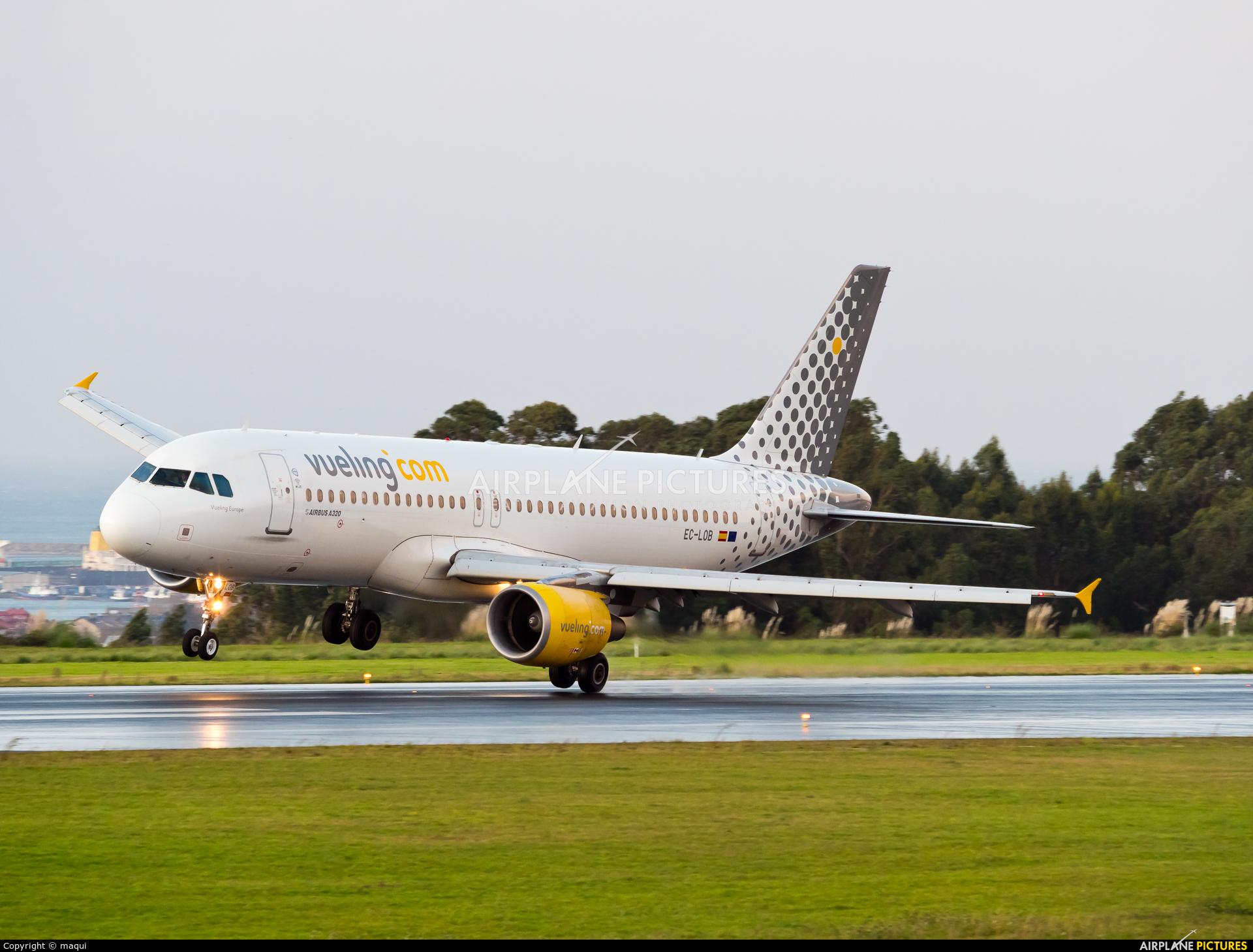 Vueling Airlines EC-LOB aircraft at La Coruña