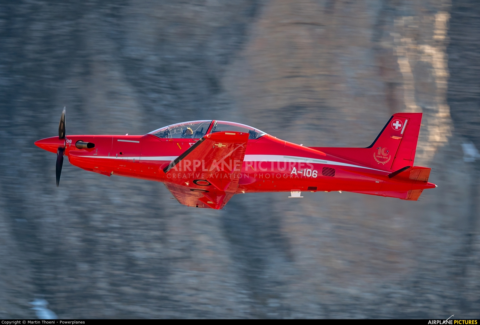 Switzerland - Air Force A-106 aircraft at Axalp - Ebenfluh Range