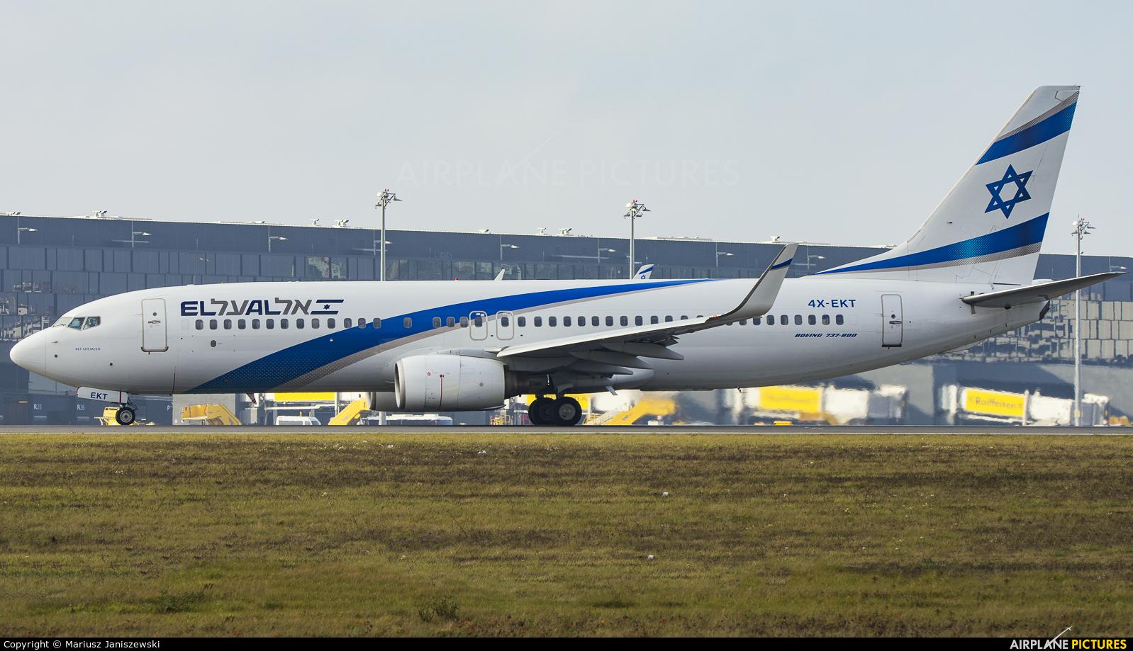 El Al Israel Airlines 4X-EKT aircraft at Vienna - Schwechat