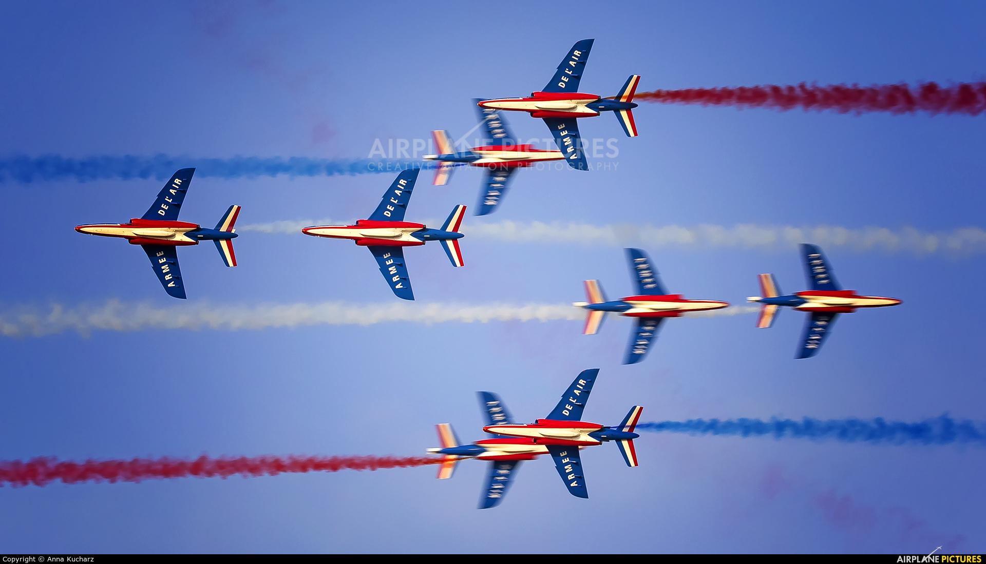 "France - Air Force ""Patrouille de France"" E85 aircraft at Jebel Ali Al Maktoum Intl"