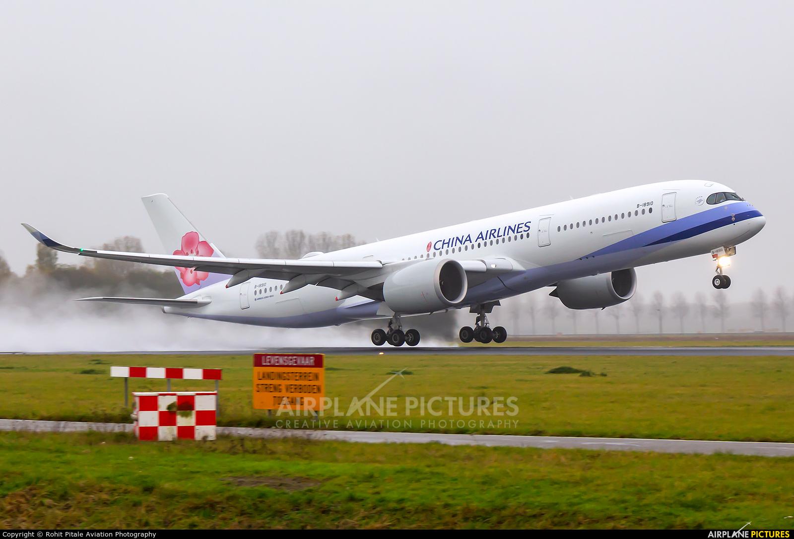 China Airlines B-18910 aircraft at Amsterdam - Schiphol